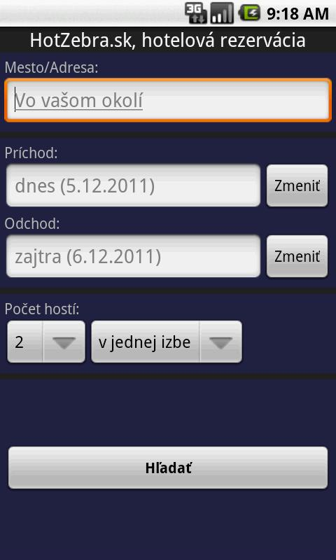 Hotel booking - HotZebra- screenshot