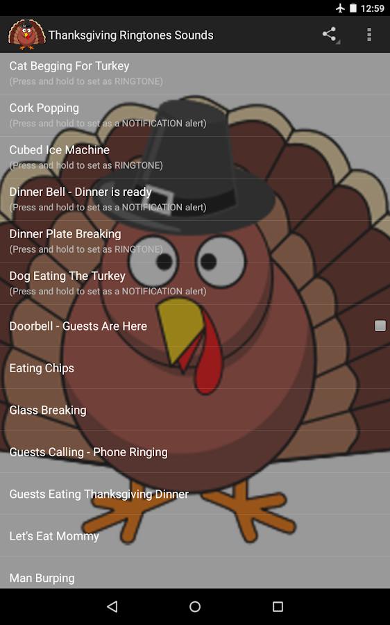 ringtones thanksgiving