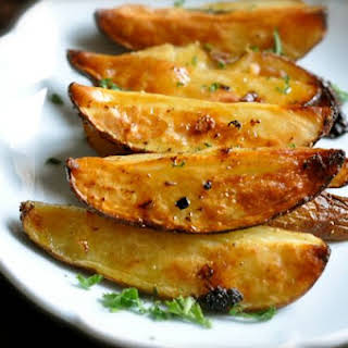 Greek Style Roasted Potatoes.