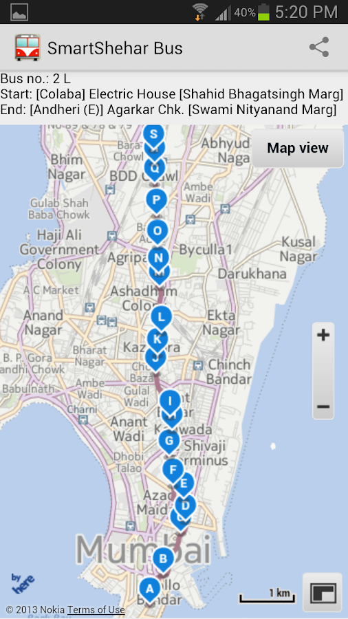 Mumbai BEST Bus by SmartShehar - screenshot