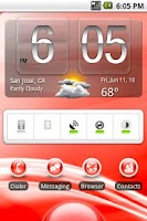 Screenshot of aHome Theme: Flow (Red)