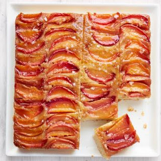 Nectarine Upside-Down Cake with Salted Caramel.