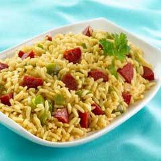 Yellow Rice With Chorizo.