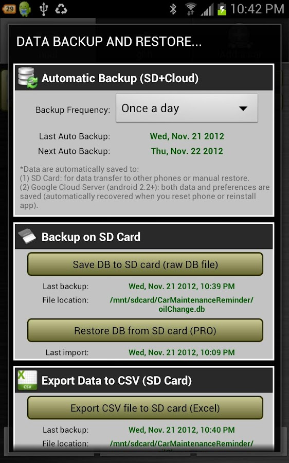 Car Maintenance Reminder Lite- screenshot