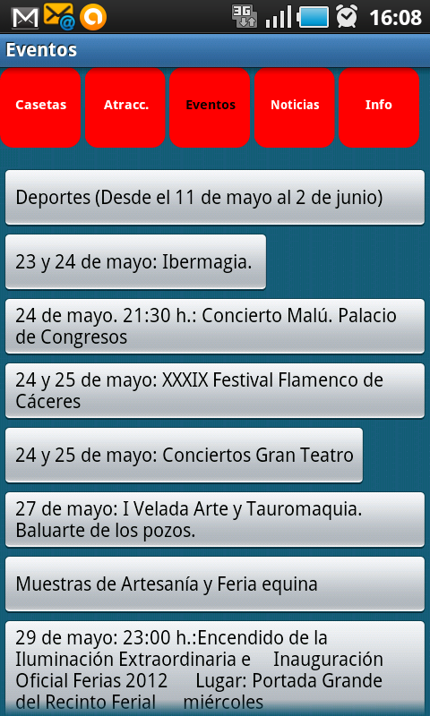 Ferias de Cáceres 2013 - screenshot
