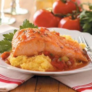 Salmon with Polenta.