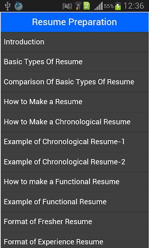 Resume Preparation Guide
