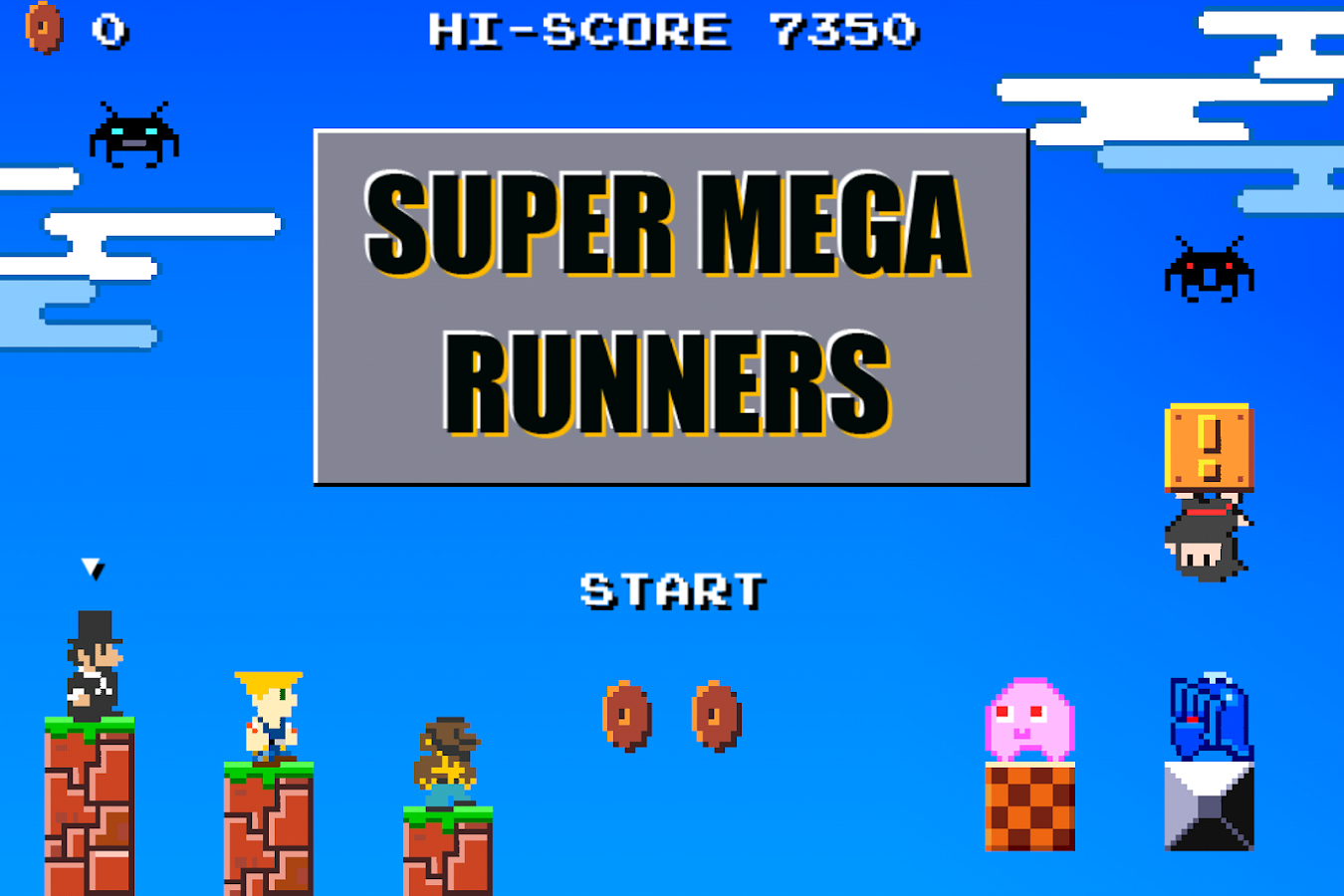 SUPER MEGA RUNNERS 8-Bit Mario- screenshot