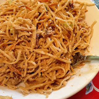 Peanut noodle Salad with Chicken and Vegetables -or not