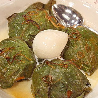 Apricots Baked in Fig Leaves