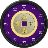 Chinese Coin Clock Widget