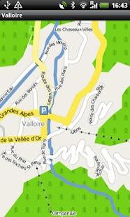 Valloire Street Map- screenshot thumbnail