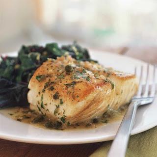 Fish with Lemon & Caper Sauce.