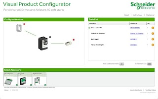 Screenshot of Drives Visual Configurator