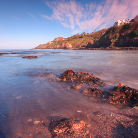 howth by Jozef Svintek - Landscapes Waterscapes ( clouds, sand, sky, ireland, sea, rock, house,  )