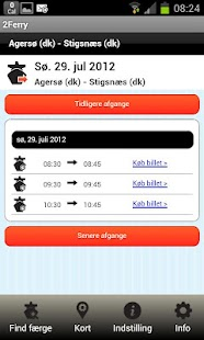 Faerge.dk your ferry departure- screenshot thumbnail