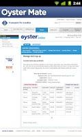 Screenshot of Oyster Mate