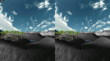 Screenshot of Durovis Dive Volcano VR Demo