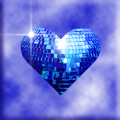 Blue Sparkle Hearts