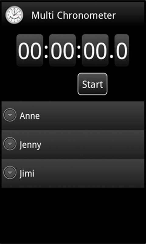 MultiChrono - Stopwatch - screenshot