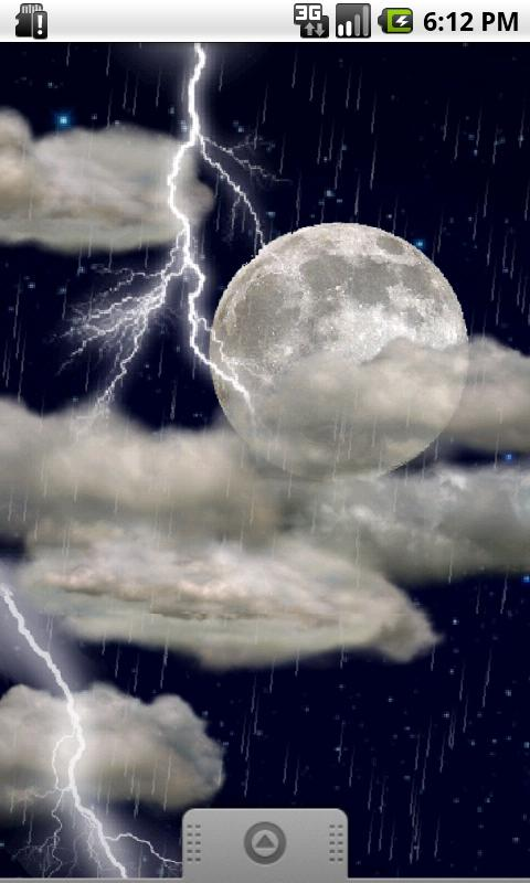 The real thunderstorm - LWP - screenshot