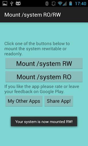 【免費工具App】Mount /system RO/RW [ROOT]-APP點子