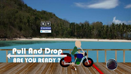 Pull Drop - Motorbike Games