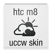 htc one m8 clock uccw skin