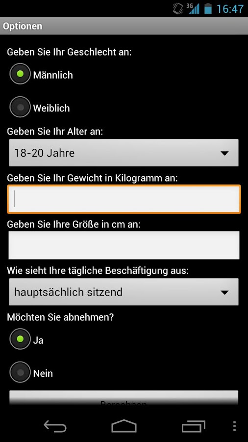 WWPunkte Rechner - screenshot