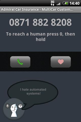 dialfaster (UK) - screenshot
