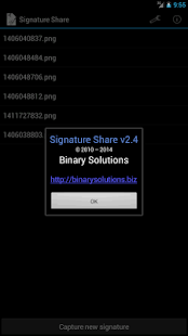 Signature Share- screenshot thumbnail