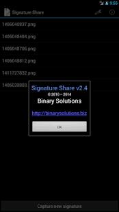 Signature Share- screenshot thumbnail