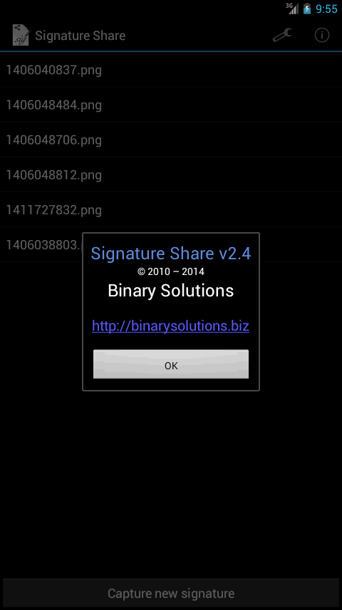 Signature Share - screenshot