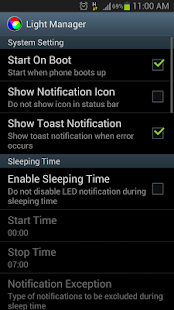 Light Manager - LED Settings - screenshot thumbnail