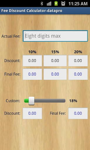 Fee Discount Calculator