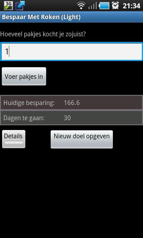 Bespaar Met Roken (Light)- screenshot