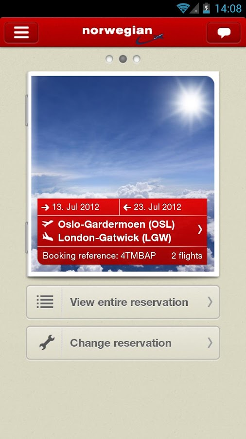 Norwegian Travel Assistant - screenshot