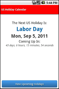 US Holiday Calendar - screenshot thumbnail