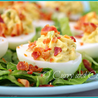 Bacon Deviled Eggs.