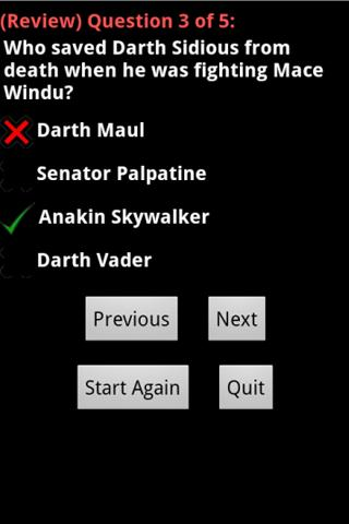 Star Wars Master Quiz - screenshot