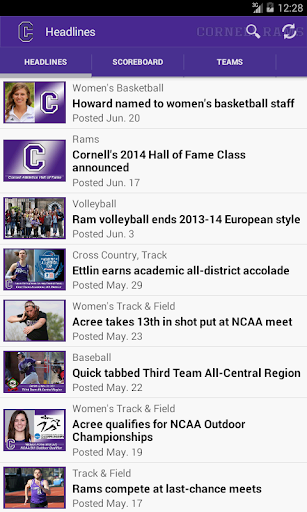 【免費運動App】Cornell Rams-APP點子