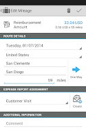 Screenshot of SAP Cloud for Travel & Expense