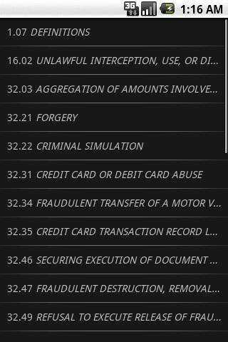 TXLaw - Penal Code - Criminal- screenshot