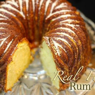 Real Food Rum Cake