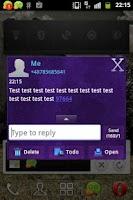 Screenshot of GO SMS Theme Dark Purple