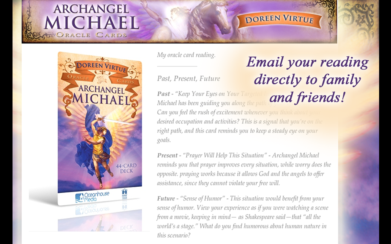 Archangel Michael Oracle Cards - screenshot
