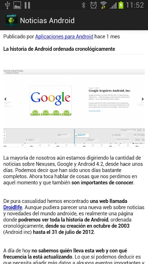 Noticias Android - screenshot