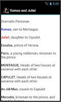 Screenshot of Romeo and Juliet ,Shakespeare