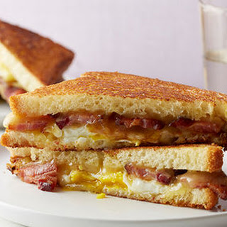 Bacon, Egg and Maple Grilled Cheese Sandwich.