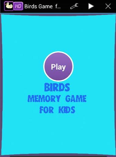 Birds Memory Game For Kids